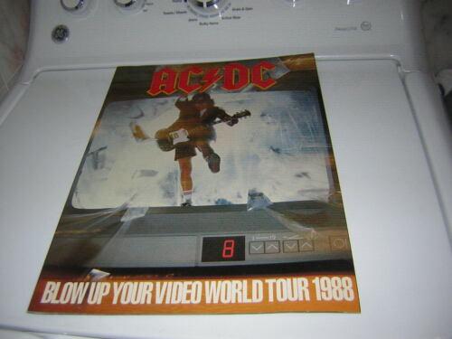 AC/DC TOUR  BOOK BLOW UP YOUR VIDEO 1988 TOUR PROGRAM ANGUS YOUNG
