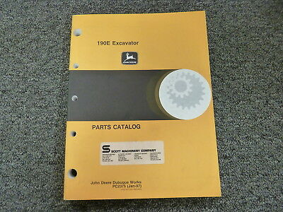 John Deere 190E Midi Excavator Parts Catalog Manual Book PC2375