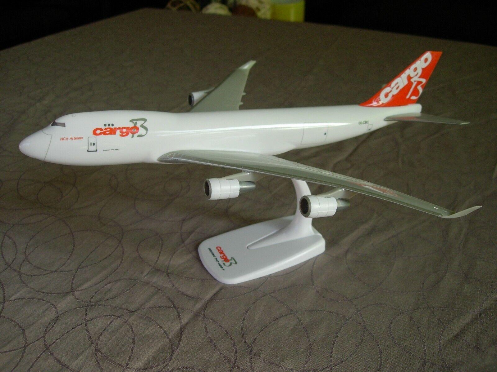CargoB miniatuurvliegtuig Boeing B747 schaal 1/250 met originele doos.L:28cm