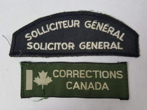 DEFUNCT CANADIAN CORRECTIONS SEW ON UNIFORM PATCHES CANADA PRISON JAIL GUARD