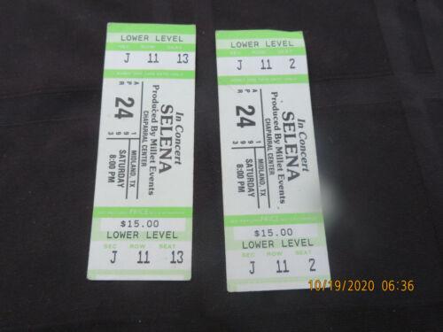 2 x RARE Vintage 1993 Selena Quintanilla Concert Ticket Stubs #1