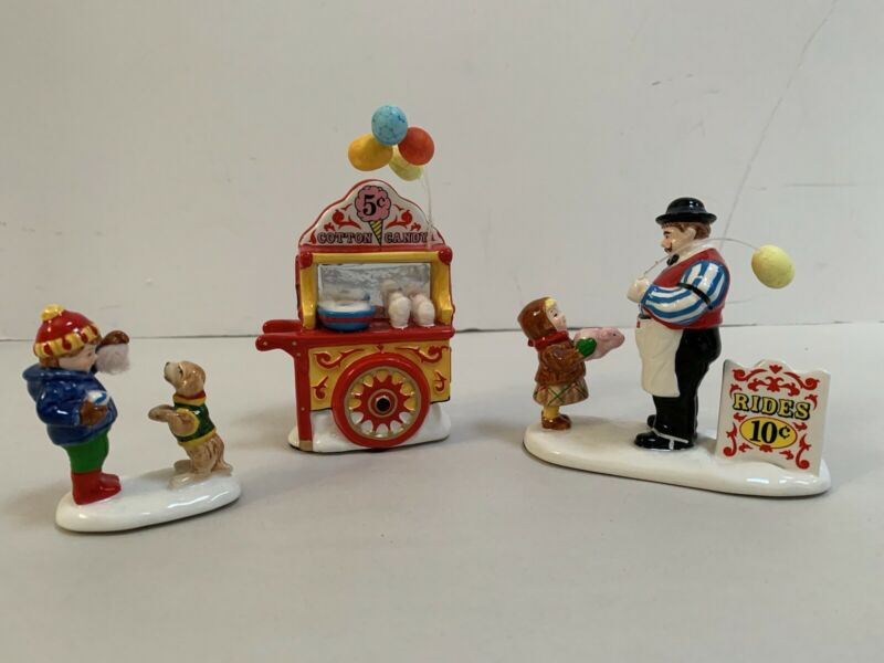 Dept 56 CARNIVAL TICKETS and COTTON CANDY, Snow Village