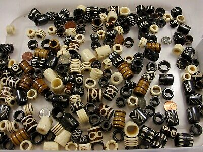 200 Pieces Assorted Sizes and Styles Water Buffalo Bone Beads Wholesale (RTV-1) - Water Beads Wholesale
