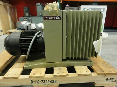 Pfeiffer Type Duo 030a Vacuum Pump 30m3h W Aeg Type Am90sx4q4 Motor