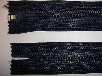 RV416 Reißverschluß opti dunkelblau 25cm lang, nicht teilbar 2 Stück