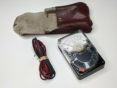 Triplett Model 310 Vom Multimeter W Pouch Leads - Voltmeter Vintage