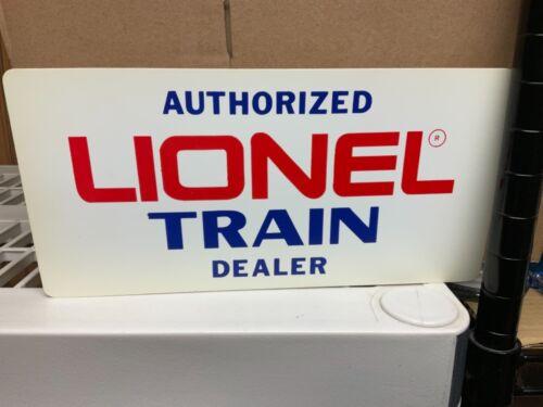 Vintage Lionel Train DEALER sign Plastic AUTHORIZED WAREHOUSE FIND ORIGINAL LOOK