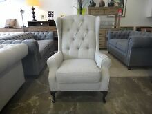 NEW VICTORIA WING CHAIRS - FABRIC CHESTERFIELD Richmond Yarra Area Preview