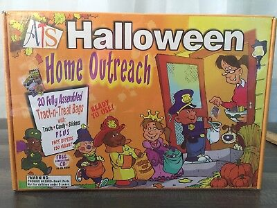 Religious Christian Witnessing Tracts Halloween Outreach 20 Bags With Tracts (Halloween Religious Tracts)