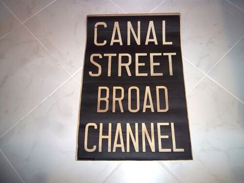 Nyc Subway Sign Vellum Roll Sign Canal Ny Broad Manhattan Ny Vintage Collectible