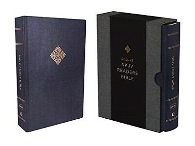 Blue Deluxe Cloths (NKJV Deluxe Reader's Bible hardcover cloth over board Blue Hardcover, Navy)