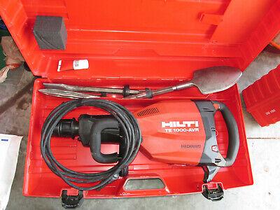 Hilti Te1000-avr Demolition Hammer Package W3 Bits. Newest Model Combo 922