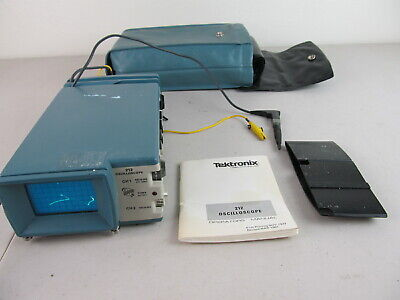 Tektronix 212 Portable Oscilloscope 2 Channel As Is For Parts Or Repair