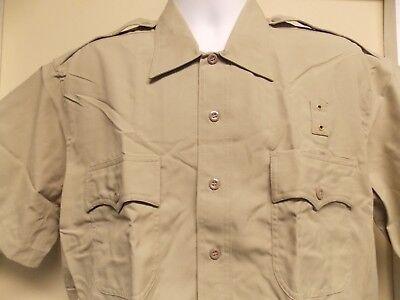Elbeco Tan Tactical Short Sleeve Uniform Shirt Style 248 Tan Uniform Shirt