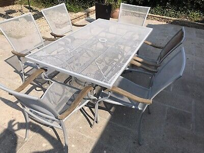 Leisuregrow Garden Patio Furniture Table, X6 Chairs And Cushions