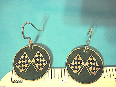 Corvette Earring - CORVETTE ( green ) logo - earrings , ear rings GIFT BOXED