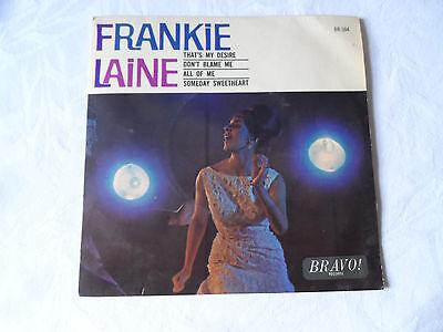 "Frankie Laine That's My Desire 4 Track 7"" EP Bravo 1964 VG+ Condition.."
