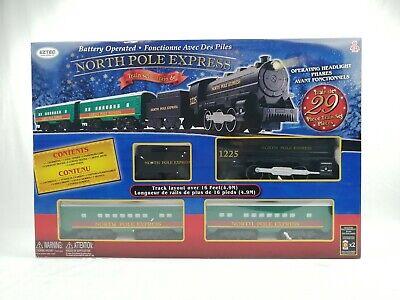 Eztec North Pole Express Holiday Train Set 16 Feet Track Layout Christmas