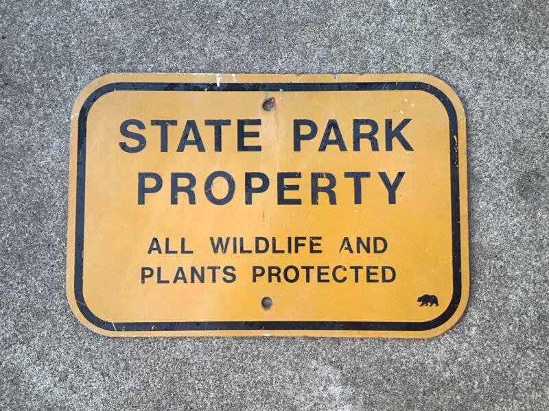 CALIFORNIA - STATE PARK PROPERTY - METAL SIGN