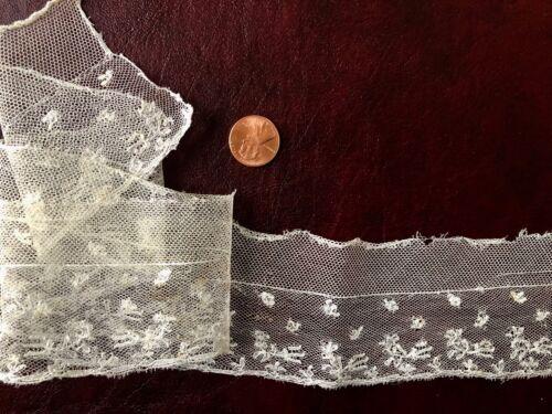 C. 1800 handmade Mechlin bobbin lace edging Austen Costume