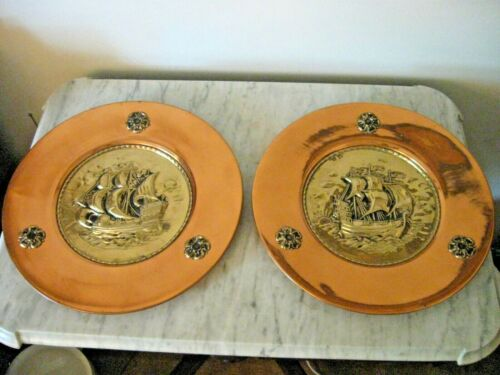 Linton Co. Copper And Brass Wall Plaques (England) Boats