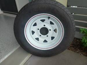 SELLING A BRAND NEW SPARE BOAT TRAILER WHEEL- 155R12LT- 5 STUD