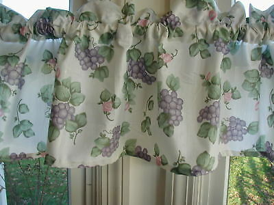 """pfaltzgraff Grapevine 58"""" Valance 1 1/2 inch rod pocket SPECIAL MADE cotton/poly for sale  Woodstock"""