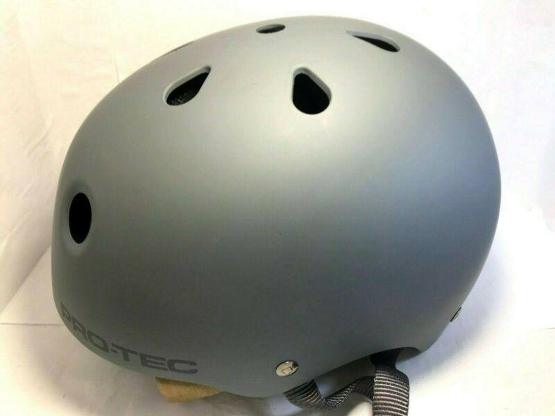 Protec Classic Skate Helmet Matte Gray Size Medium Skate Helmet