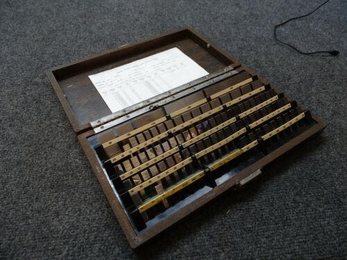 Starrett Webber Gage Block Set Grade E4 .050