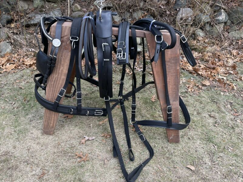 Leaders Worldwide Nylon/Leather harness For Draft Size!