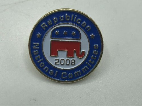 2008 Republican National Committee Red White Blue Elephant Lapel Pin   K6