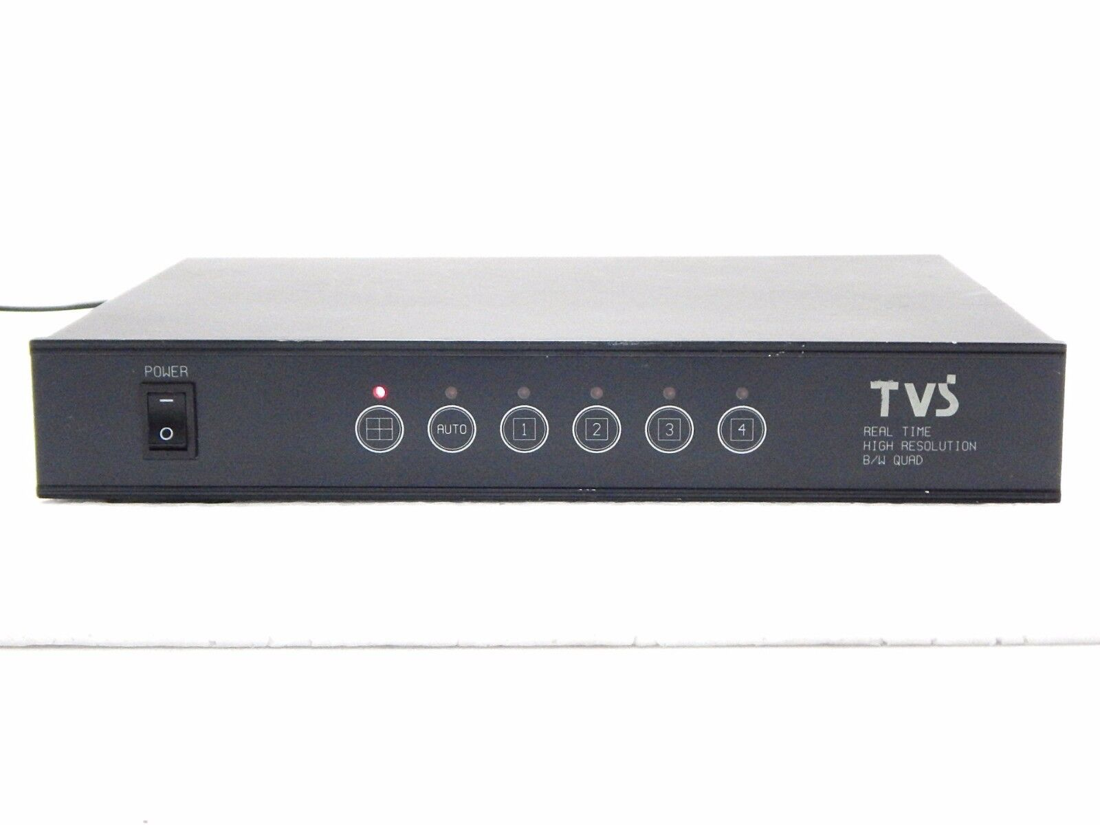 TVS Real Time High Resolution B/W Quad CCTV Video Processor AS-IS