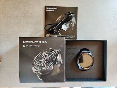 Mobvoi TicWatch Pro 3 GPS 47mm Stainless Steel Case with Silicone Strap Smart...