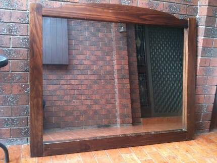 Large Mirror very solid woodgrain construction