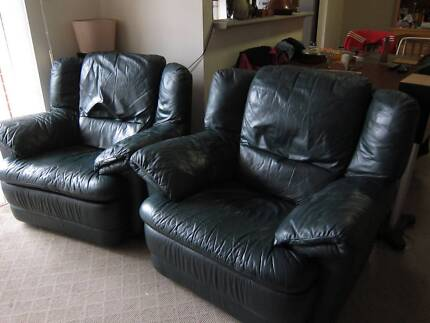 Two Italian Leather Single Recliner Ashfield Ashfield Area Preview