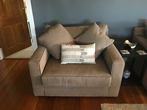 Freedom Anderson Lounge suite - 2x3 seater, 1x armchair + ottoman Razorback Wollondilly Area Preview