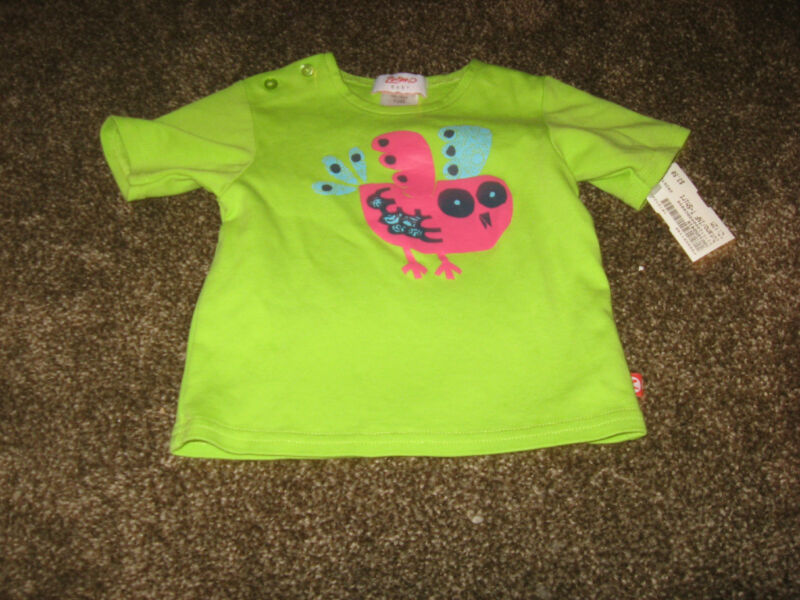 Cute Bright Green Owl Graphic Top from Zutano EUC 12 months