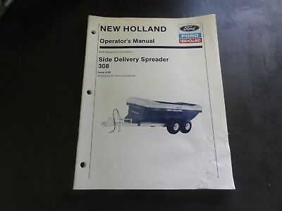 New Holland 308 Side Delivery Spreader Operators Manual