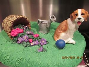 BEAGLE-WITH-BASKET-OF-FLOWERS-PICTURE-FRAME