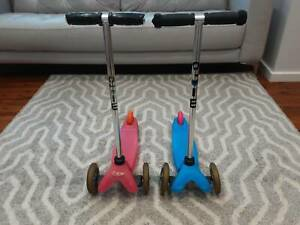 Mini Micro Scooter, 3 wheel design, available in Pink or Blue