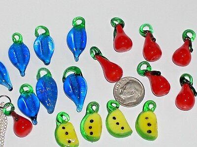 19pc Großhandel Menge Winzig Mini Glas Früchte Lampwork - Perlenketten Großhandel