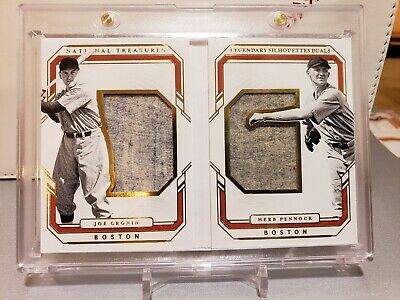 2019 NATIONAL TREASURES JOE CRONIN HERB PENNOCK RED SOX JERSEY RELICS SP 12/49