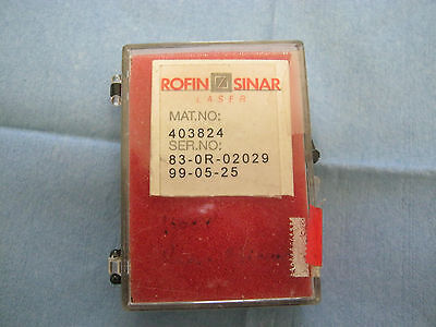 Rofin-sinar Mat. No. 403824 Laser Lens.  W