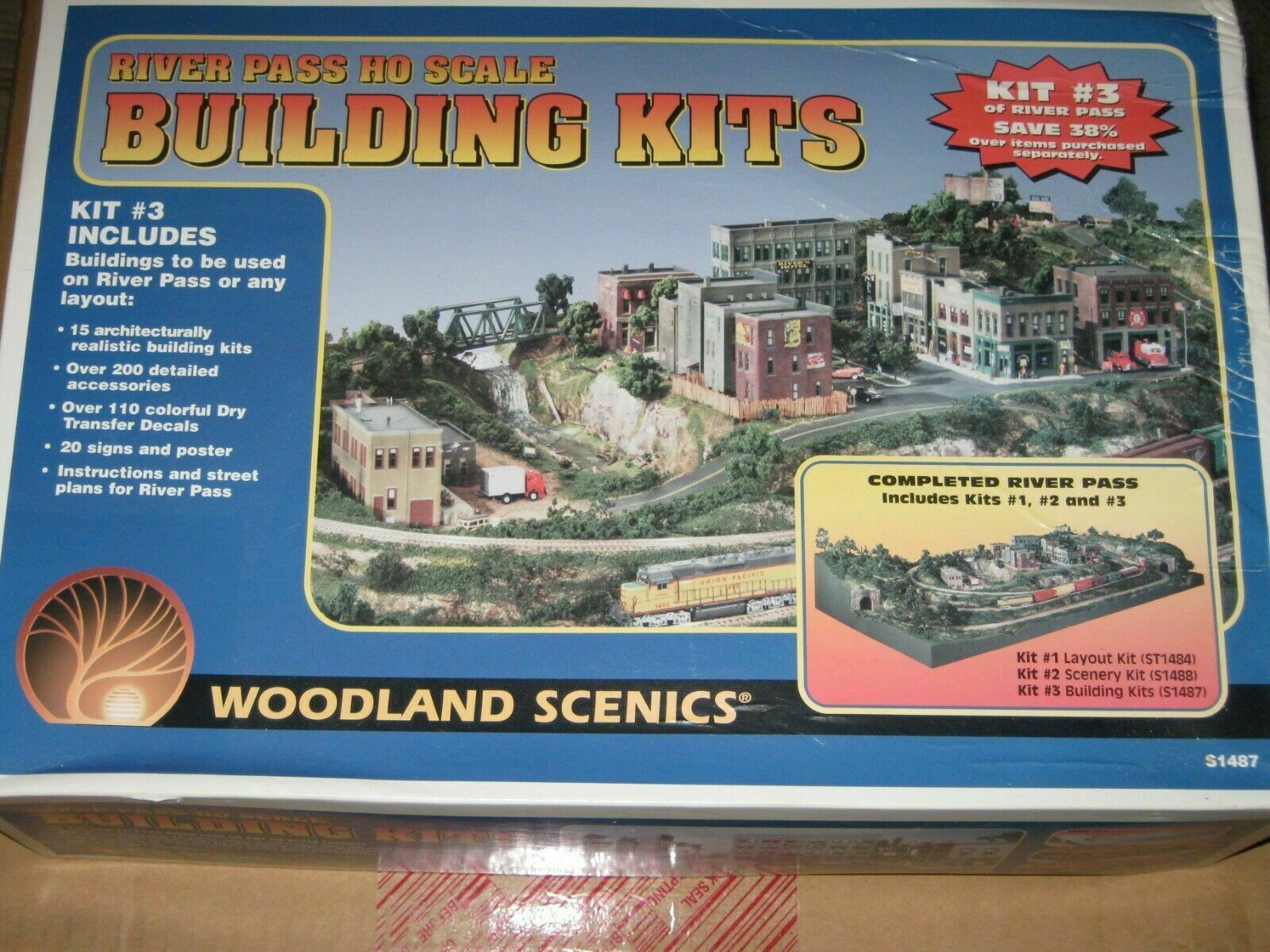 Woodland Scenics S1487 River Pass HO Scale Building Kit