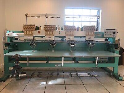 Tajima Tmfxii-c1204 - 4 Head Comercial Embroidery Machine Used