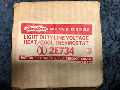 Light Duty Line Voltage Heatcool Thermostat 1 2e734