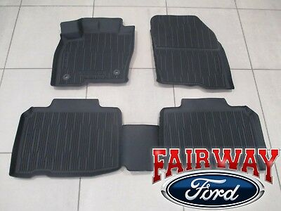16 thru 18 Edge OEM Genuine Ford Tray Style Molded Black Floor Mat Set 4-pc NEW