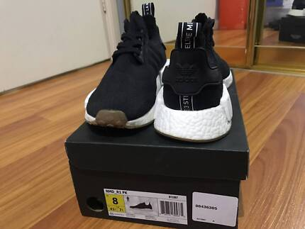 Black Adidas NMD Primeknit Gum Size Us 8