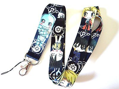KAWAII FULL METAL ALCHEMIST LANYARD anime chibi manga neck strap ID tag badge Z1