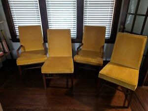 4 Mid Century Modern Dining Chairs Vintage